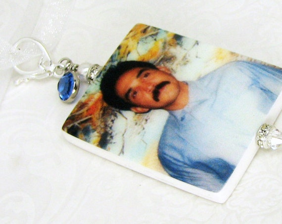 A Brides Something Blue Memory Photo Charm - Medium - BC2fa