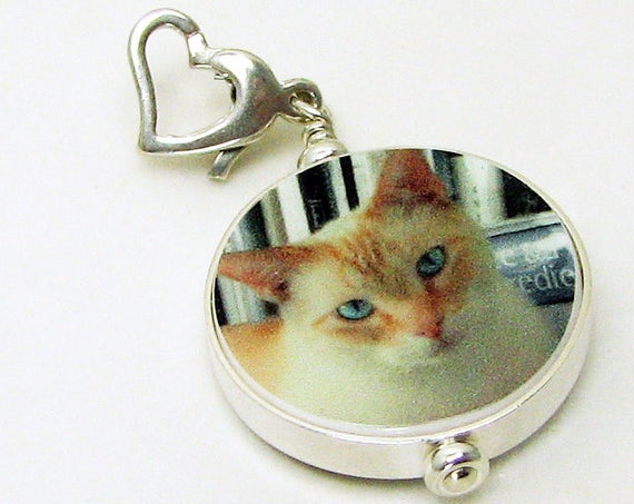 Pet Photo Charm with a Heart Clasp - FC6Flf