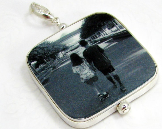 Photo Pendant Framed in Sterling - Large - FP1FlR