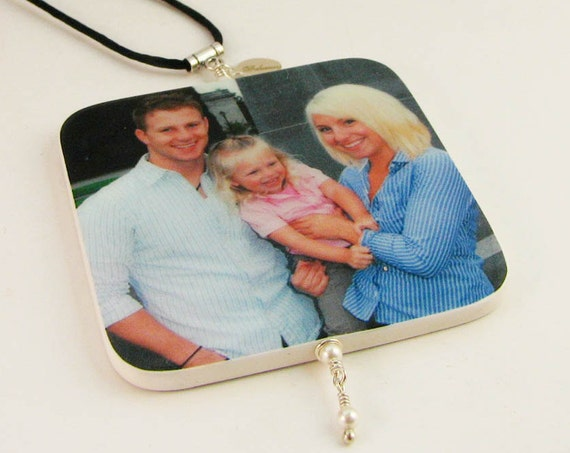 Christmas Photo Ornament, two-sided - Medium - O2R