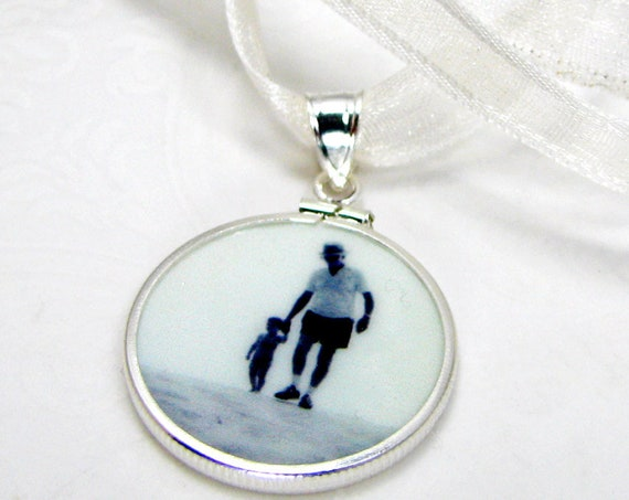 Wedding Bouquet Photo Charm - Photo Pendant with Interchangeable Photo Tile - CPF