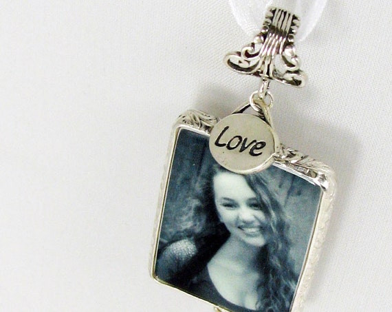 Bridal Bouquet Memory Photo Charm - Large - FP1Ffa