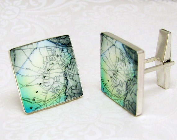 For the man who has everything, personalize these Sterling Photo Cuff Links - A11