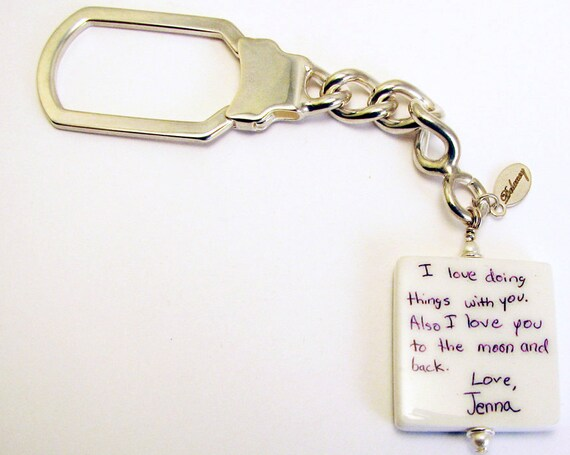 Sterling Key Chain with two-sided Photo Charm