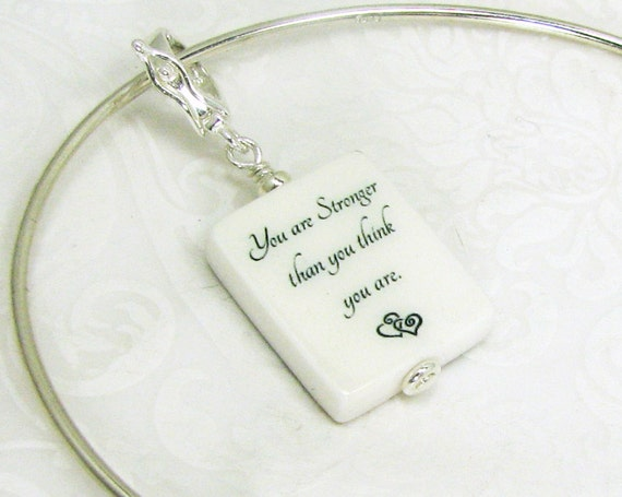 Silver Adjustable Bangle Bracelet with Custom Photo Charm - Small - P3fB4