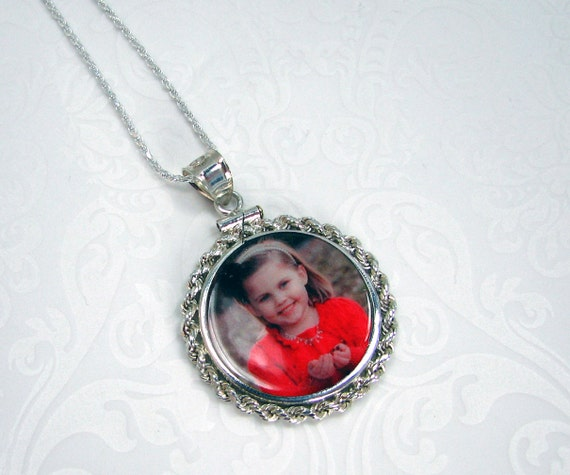 Interchangeable Sterling Framed Photo Pendant - CPF