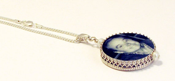 Round Sterling Framed Photo Charm - FP16CN