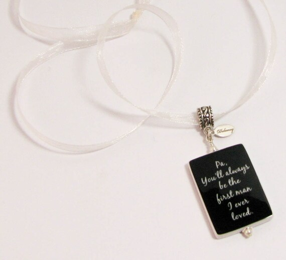 You Will Always Be My First Love - Bouquet Memorial Photo Charm - Lg. - BC1F