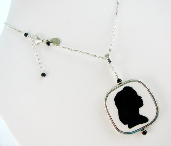 Photo Pendant in a Beautiful Floral Patterned Sterling Frame - Medium - FP2FRN