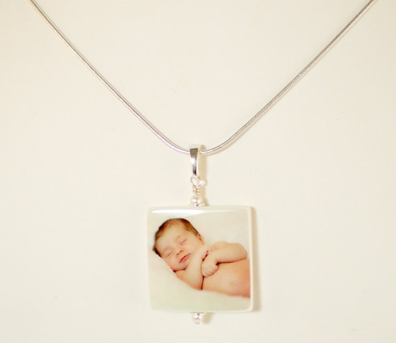 Custom Photo Pendant - Medium - Handmade Photo Tile Jewelry - P2N