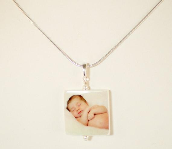 Custom Photo Pendant - Medium - Handmade Photo Tile Jewelry - P2N