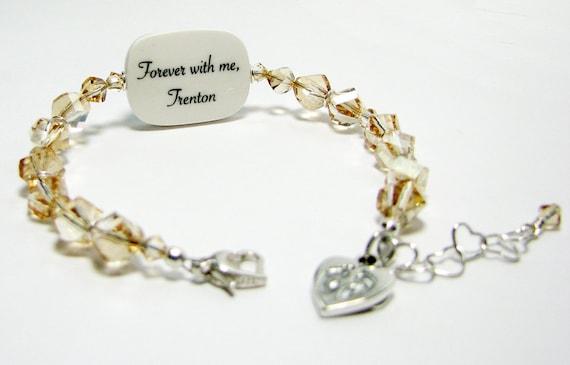 Custom Crystal Bracelet, Medium Photo Charm - P2RB13a
