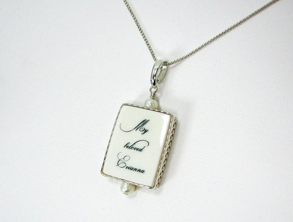 Classic, Sterling Framed Photo Pendant on a sterling necklace - Medium - FP2CN
