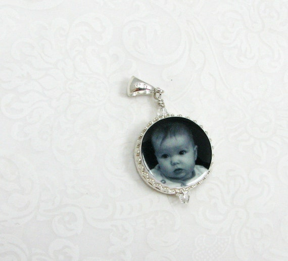 Sterling Framed Photo Charm - FC6C
