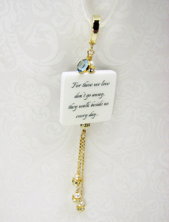 Her Something Blue, A Memorial Photo Bouquet Charm - Medium