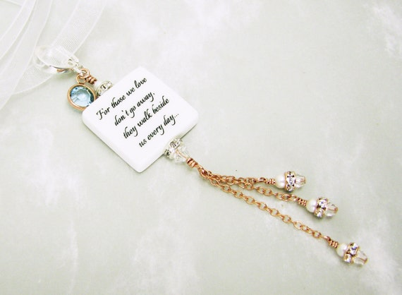 Something Blue, A Bouquet Charm in a combination of Sterling Silver and Rose Gold -Small - BC3fRGa