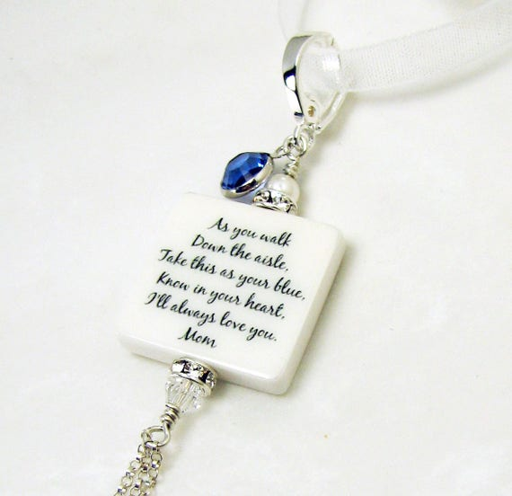 Her Something Blue Memory Photo Charm - Small