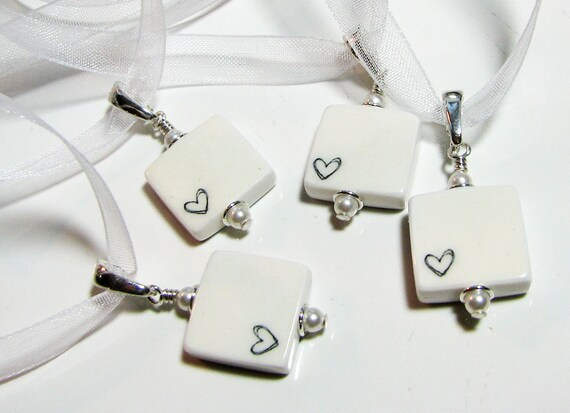 4 Wedding Bridal Bouquet Charms,  Mini Memorial Photo Charms - BC4x4