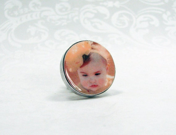 Sterling Silver Photo Tie Tac - PT6a