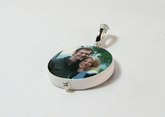Round Photo Pendant - Medium - Handmade Heirloom Quality Photo Tile - P16