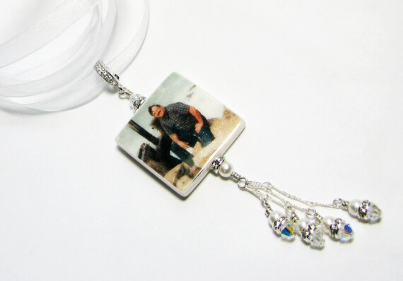 Glitter Bouquet Charm with Dangles - BC2F-G