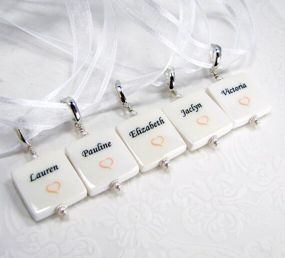 5 Bridal Bouquet Photo Charms,  XSM - BC5x5