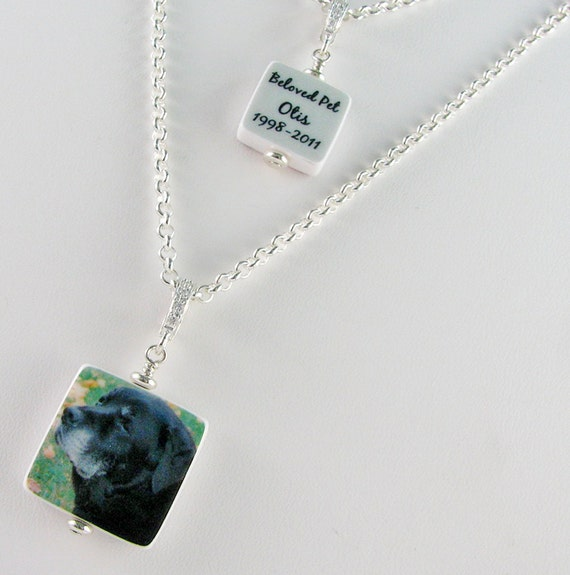 Mother Daughter Set, 1 Small Photo Pendant and 1 Mini - P3fN, C4fN