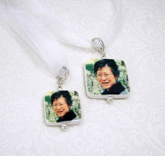 2 Wedding Bouquet Memorial Charms - 1 Medium Charm, and 1 Small Charm - BC2BC3S