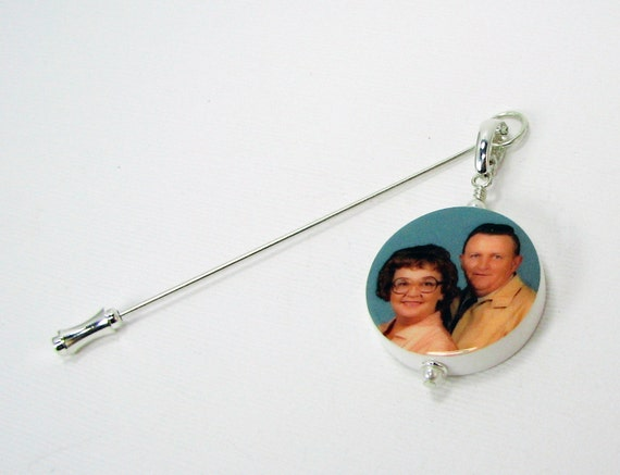 Boutonniere Memorial Photo Charm - Medium