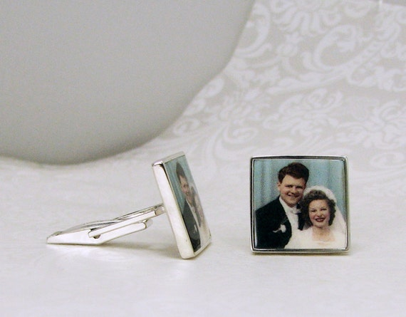 Sterling Silver Picture Cuff Links