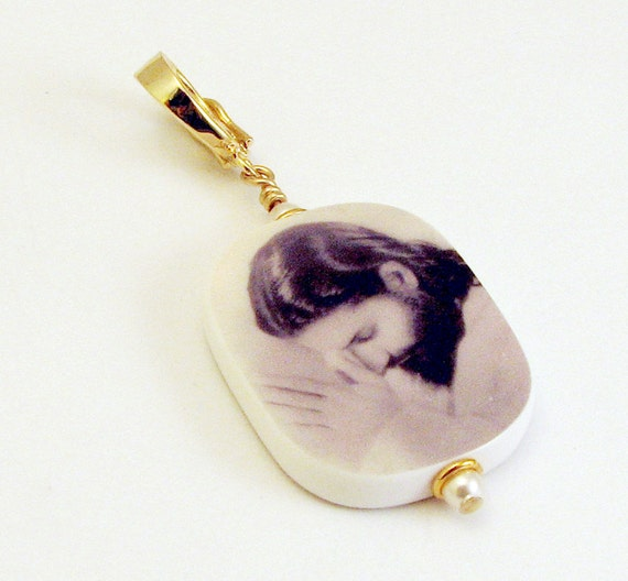 Gold Vermeil Edition Photo Pendant - Medium - P2RV