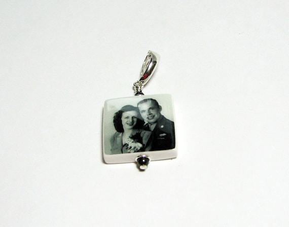 A Photo Pendant with your images baked in clay - Small - P3