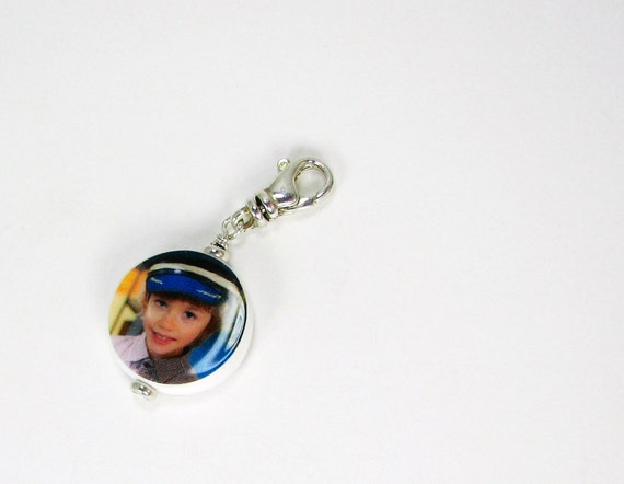A Photo Charm to add to your Bracelet with a Swivel Clasp - XSM - C6Rf