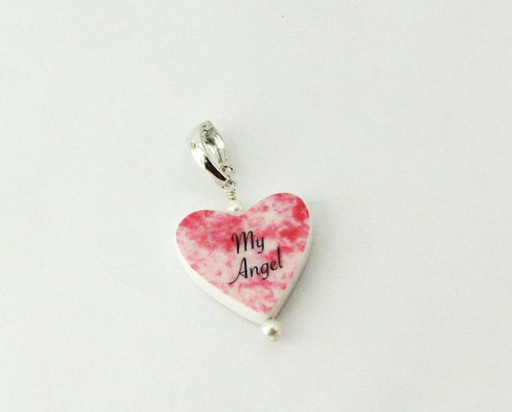Heart Shaped Photo Charm with custom message