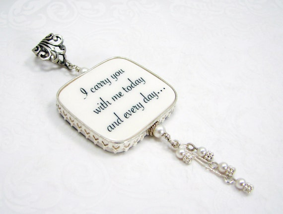 Bridal Bouquet Photo Memorial Charm - Princess Style Frame - Large - FBC1PRfa