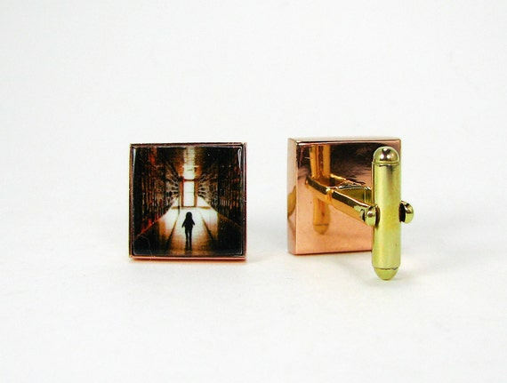 Copper Photo Cuff Links - A great gift for your Groom