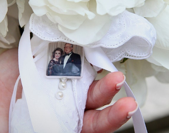 Wedding Bouquet Photo Charm - Medium Photo Pendant - BC2