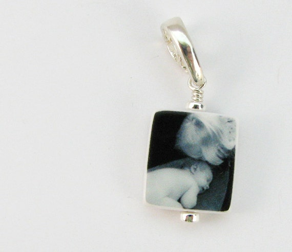 C4 - The perfect custom Photo Charm for any size wrist - Mini Charm - Handmade Photo Jewelry