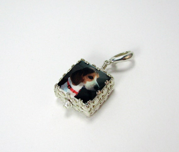 "Gallery Wrapped Photo Charm on a hinged bail - XSM (.65"")"