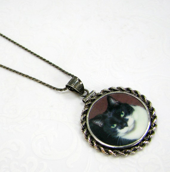 Antiqued Sterling Pendant with a Oxidized Sterling Frame - CPFN-O