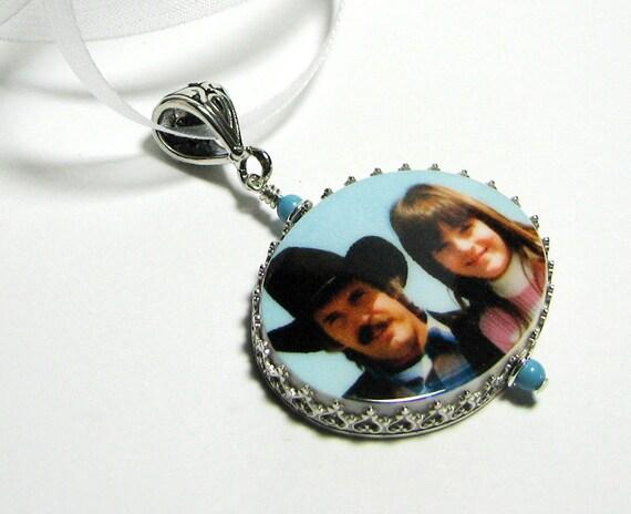 Photo Pendant Memory Charm, Personalized, Custom Keepsake Jewelry, Sympathy Jewelry