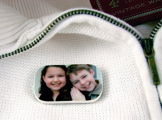 One-sided Magnetic Photo Brooch - 03MB
