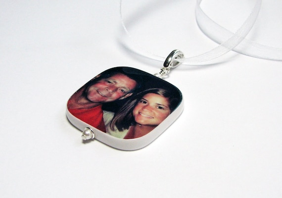 Bridal Bouquet Charm - Large Custom Photo Pendant - BC1R