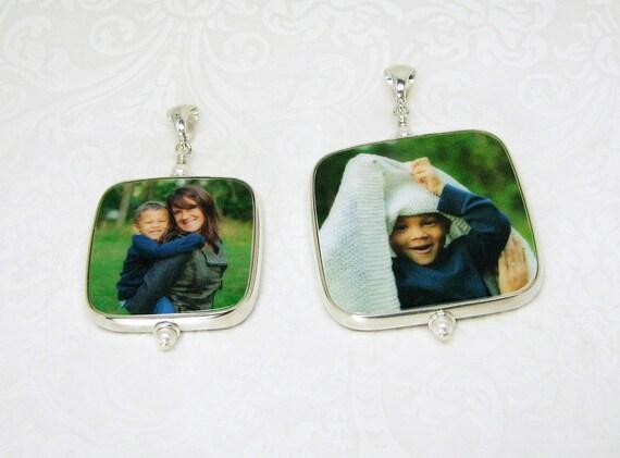 A set of two keepsake photo pendants - FPRH-Set