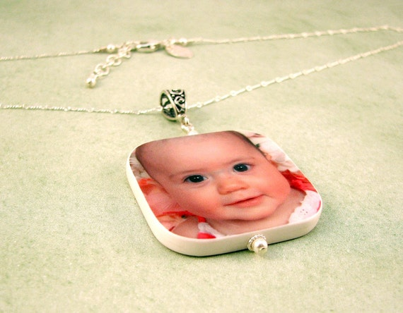 Custom Photo Pendant Necklace - Lg - P1RN