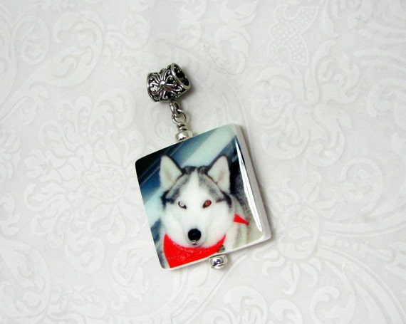Custom Photo Pendant Keepsake with a Fancy Bail- Medium - P2f