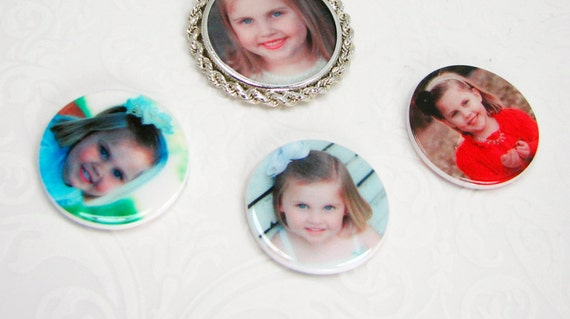Replacement Photo Tiles for a Coin Frame - Medium (24 mm) - Pendant Frame NOT INCLUDED!