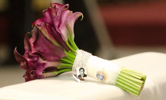 BC2x2 - Wedding Charms, 2 Medium Photo Bouquet Memorial Charms - Custom Bouquet Jewelry