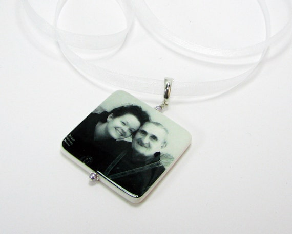 Bridal Bouquet Photo Charm - XLG Memorial Photo Bouquet Jewelry