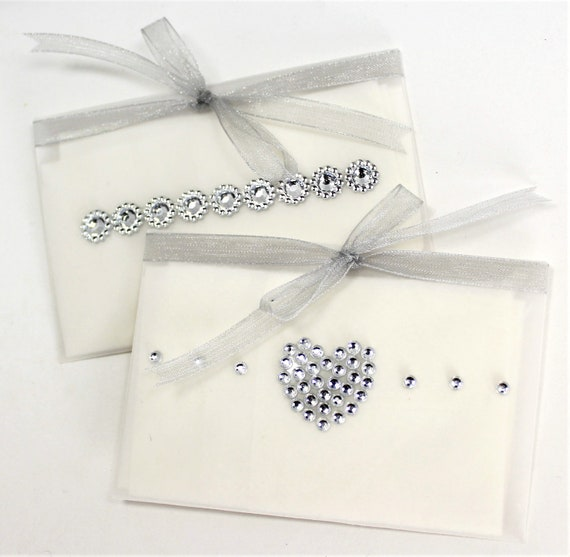 Gift Tissues in Vellum Envelopes - Silver Edition